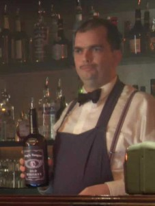 "Peter New as the Bartender in ""The Bar"" saying ""Yep"""