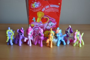 My Little Pony McDonald's 2012 Happy Meal toys and box
