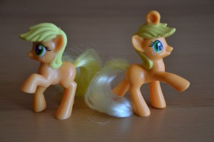 My Little Pony McDonald's 2012 Happy Meal toys - Comparison to 2011 Happy Meal toys