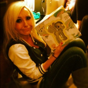 Jessica Nigri with a Derpy toy