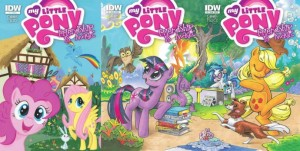 My Little Pony: Friendship is Magic IDW Comic 3 Covers