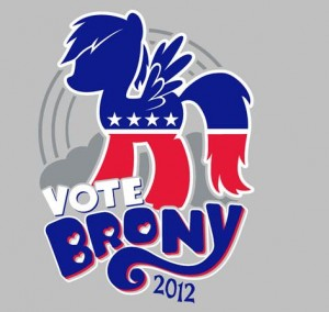 Vote Brony 2012 T-Shirt at TeeFury