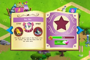 My Little Pony: Friendship is Magic mobile phone game - Bon Bon is busy but you can pay real money to skip waiting!