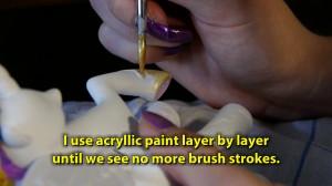 Bronies - Nadine paints a custom pony figure