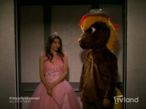 "Joy is unimpressed with Sean's My Little Pony costume in ""Hot in Cleveland"""